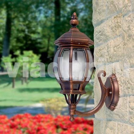 Lampada da parete per esterno in alluminio prodotta in Italia, Anika