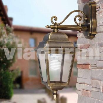 Lampada da parete per giardino in alluminio made in Italy, Aquilina