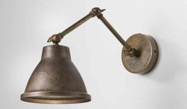 Lampada da parete regolabile in ferro loft il fanale