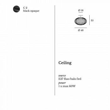Lampada da soffitto moderna in acciaio verniciato, Ø48xH 35 cm,Heila