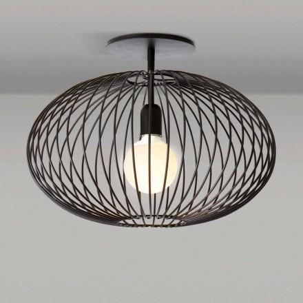 Lampada da soffitto moderna in acciaio verniciato, 48xH 35 cm,Heila