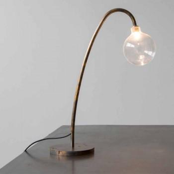 Lampada da Tavolo Artigianale in Ferro Finitura Oro Made in Italy - Ribolla