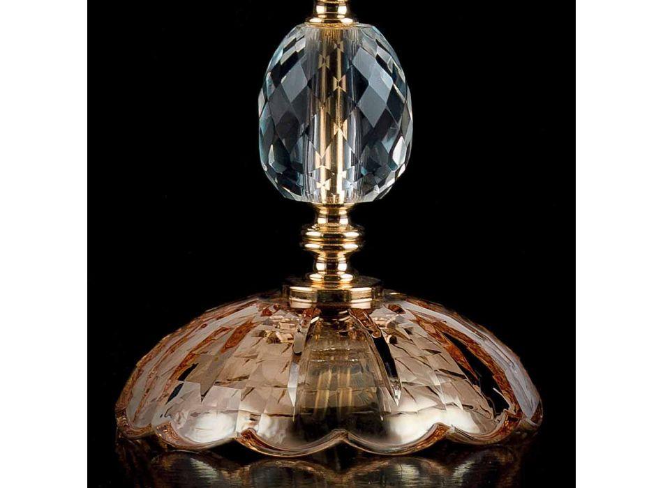 Lampada da tavolo classica in cristallo e vetro Belle, made in Italy