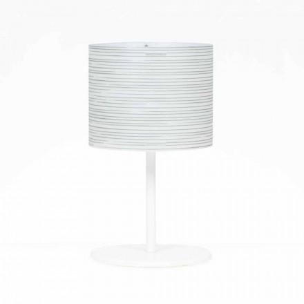 Lampada da tavolo con decoro design moderno,diametro 30 cm, Debby