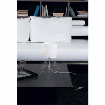 Lampada da tavolo con paralume cilindrico,diametro 18,5 cm,Samanta