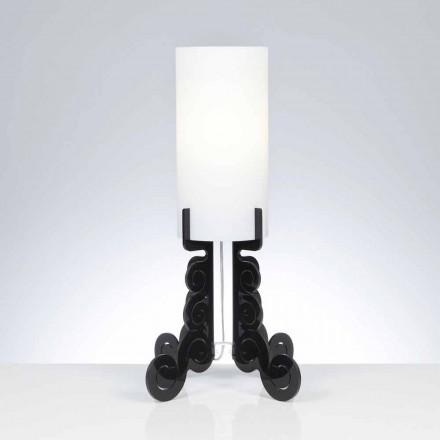 Lampada da tavolo con paralume cilindrico, diametro 26,5 cm,Samanta
