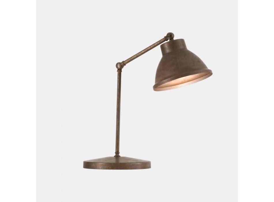 Lampada da Tavolo con Snodo in Ottone e Ferro Design Vintage - Loft by Il Fanale
