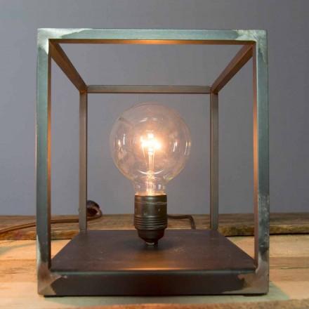 Lampada da Tavolo con Struttura in Ferro Artigianale Made in Italy - Cubola