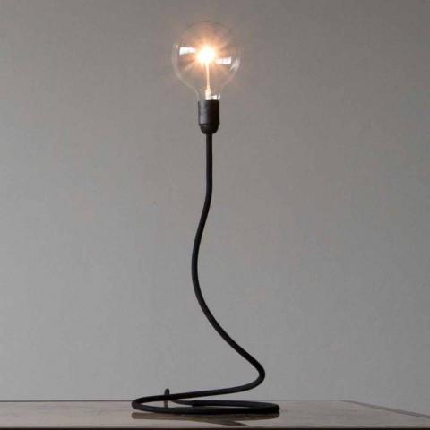 Lampada Moderna In Rame Rivestita In Cotone Made In Italy