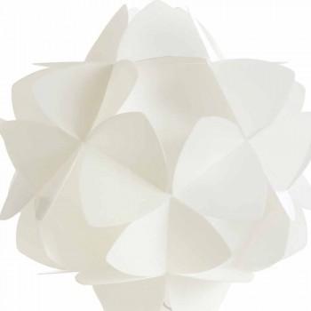 Lampada da tavolo design moderno bianco perla,Kaly diametro 46 cm