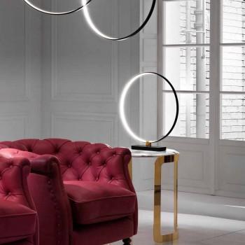 Lampada da Tavolo di Design in Alluminio Nero e Ottone Made in Italy - Norma