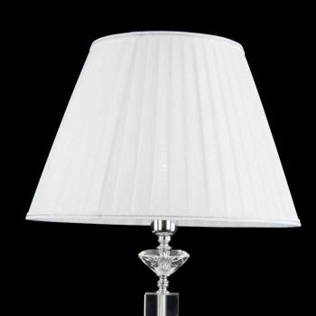 Lampada da tavolo di design in vetro e cristallo Ivy, made in Italy