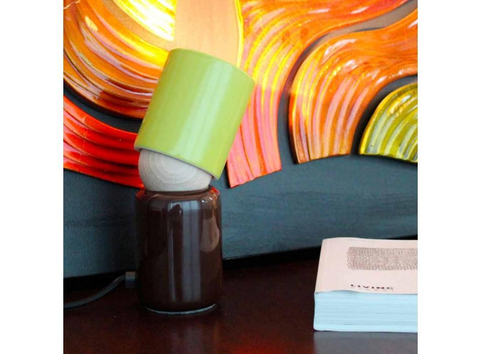 Lampada da tavolo di design moderno in ceramica made in Italy Asia