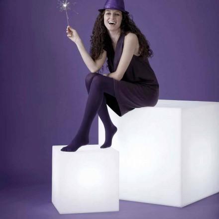 Lampada bianca da tavolo / da terra Slide Cubo, made in Italy
