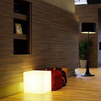 Lampada da tavolo e da terra Slide Cubo bianco luminoso made in Italy