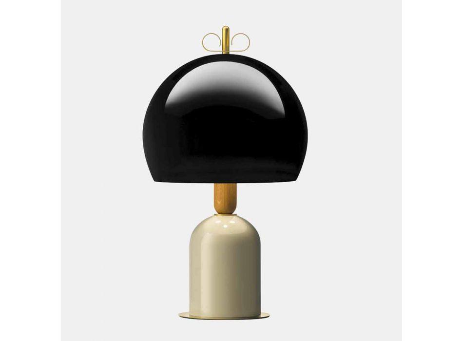 Lampada da Tavolo in Alluminio e Ottone 3 Finiture Lusso - Bonton by Il Fanale