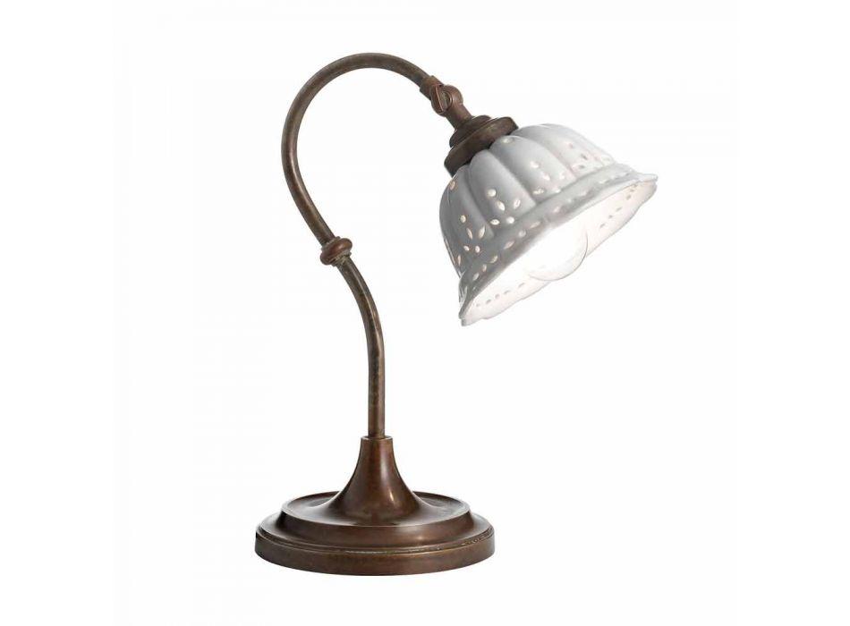 Lampada da tavolo in ceramica stile liberty Anita Il Fanale