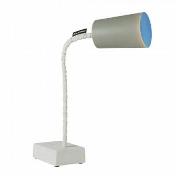 Lampada da tavolo In-es.artdesign Paint T2 stelo flessibile cemento