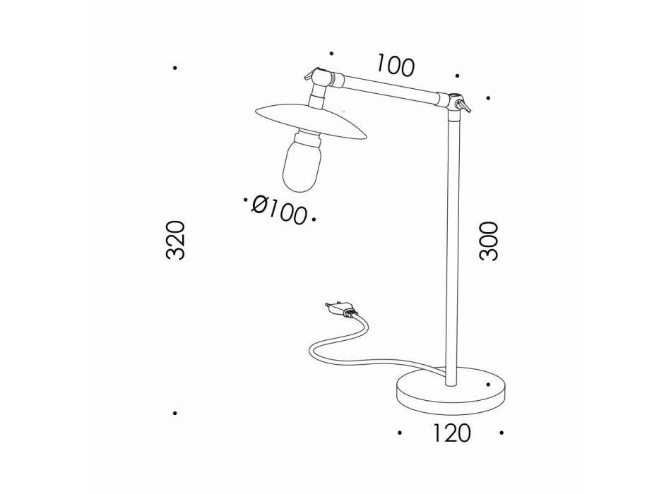 Lampada da Tavolo in Ferro con Luce Orientabile Moderna Made in Italy - Amino