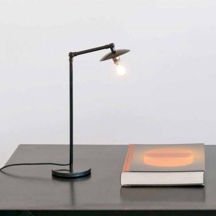 Lampada da Tavolo in Ferro con Luce Orientabile Made in Italy - Amino