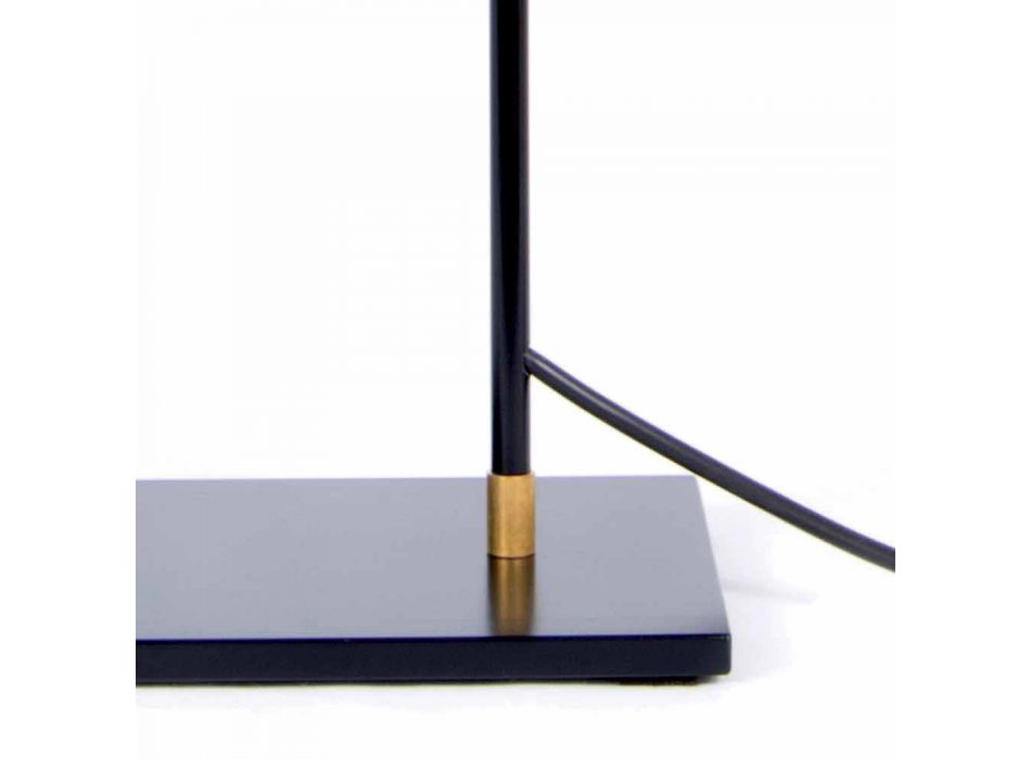 Lampada da Tavolo in Ferro e Alluminio Color Nero Opaco Made in Italy - Malita