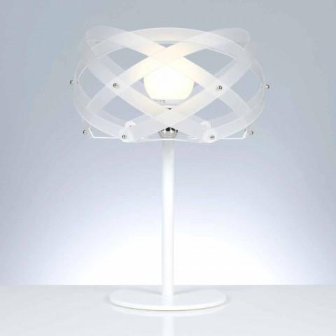 Lampada da tavolo in metacrilato bianco satinato diametro 40 cm Vanna