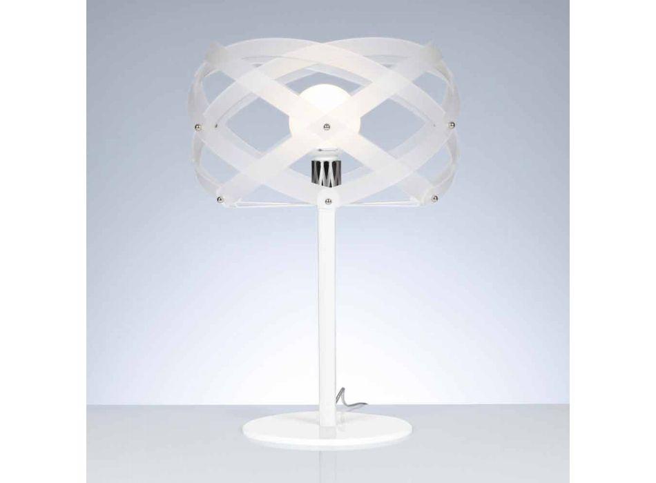 Lampada da tavolo in metacrilato bianco satinato diametro 40 cmVanna