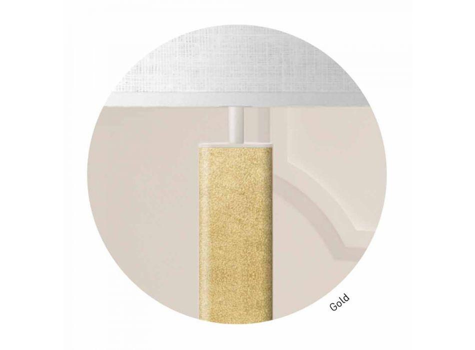 Lampada da Tavolo in Metallo con Paralume in Tessuto Made in Italy - Jump