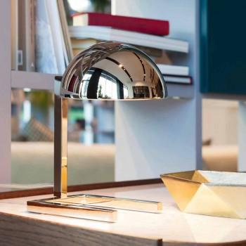 Lampada da Tavolo in Ottone Finitura Oro o Palladio Realizzata in Italia - Adana