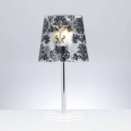 Lampada da tavoloin policarbonato con decori,diametro 30 cm,Mara