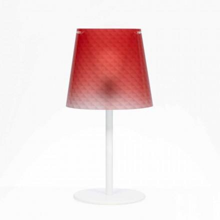 Lampada da tavolo in policarbonato,decorodiamantato,Rania diam. 30 cm