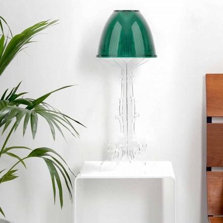Lampada da tavolo/lettura design liberty con base in plexiglass Caneva