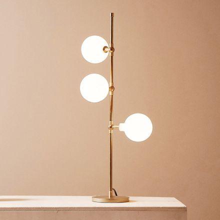 Lampada da Tavolo Moderna Fatta a Mano in Ottone con LED Made in Italy - Grippa