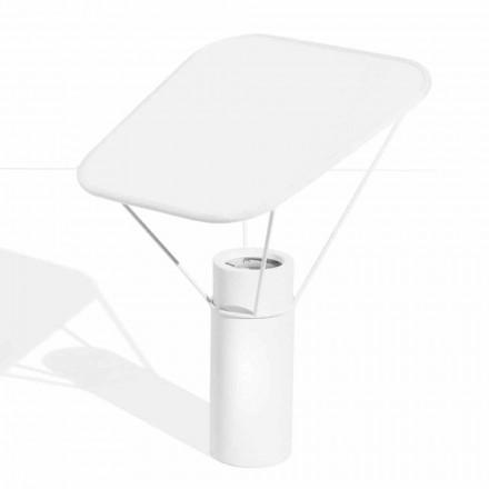 Lampada da Tavolo Moderna in Resina e Cotone Bianco Made in Italy - Fiera