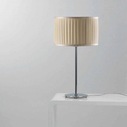 Lampada da tavolo moderna in seta color avorio bamboo - Lampada moderna da tavolo ...