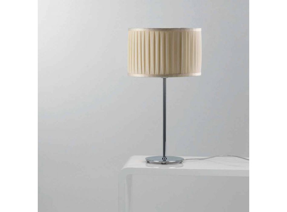 Lampada da tavolo moderna in seta color avorio Bamboo