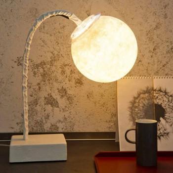 Lampada da tavolo moderna stelo flessibile In-es.artdesign MicroT Luna