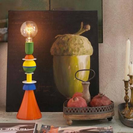 Lampada da tavolo multicolore Slide Otello in alluminio,made in Italy