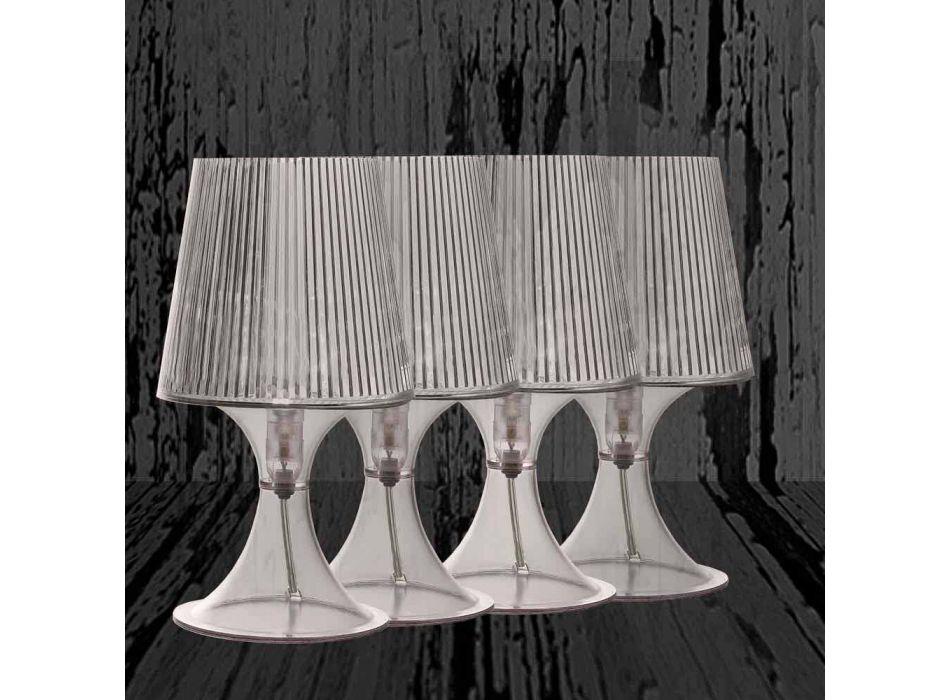 Lampada da tavolo policarbonato trasparente made in Italy Frosinone