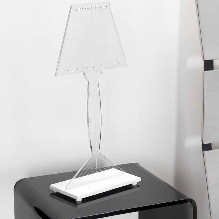 Lampada da tavolo sagomata, luce LED in plexiglass Ferla