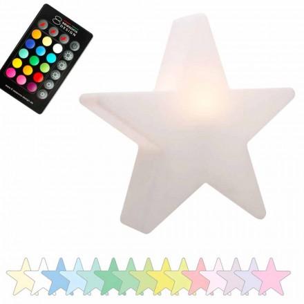 Lampada da Tavolo Solare o a LED, di Design a Stella in Polietilene - Ringostar