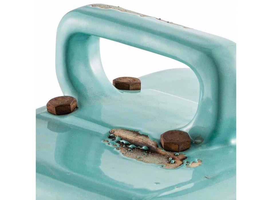 Lampada da tavolo stile industriale in ceramica e ferro Valerie