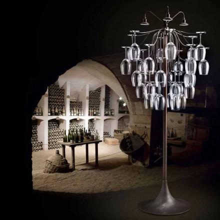 Lampada da terra 30 bicchieri rovesciati Sauvignon