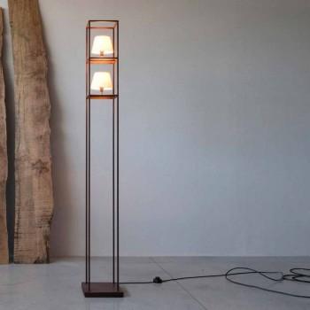 Lampada da Terra Artigianale in Ferro Finitura Corten Made in Italy - Tower