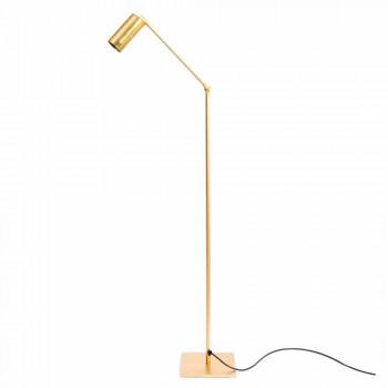 Lampada da Terra Artigianale in Ottone Naturale con LED Made in Italy - Agio
