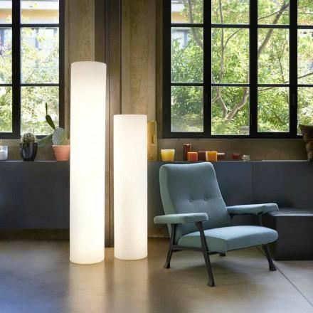 Lampada da terra cilindrica Slide Fluo luminosa realizzata in Italia