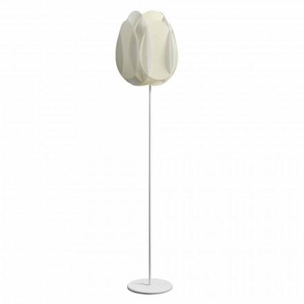 Lampada da terra con paralume bianco perla,diam.40xH195 cm,Lora