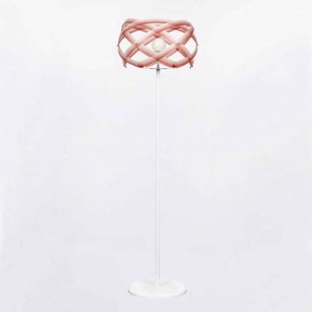 Lampada da terra design in metacrilato con decoro nuance Vanna H187 cm