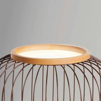 Lampada da terra design moderno in acciaio Ø37xh80 cmFanny