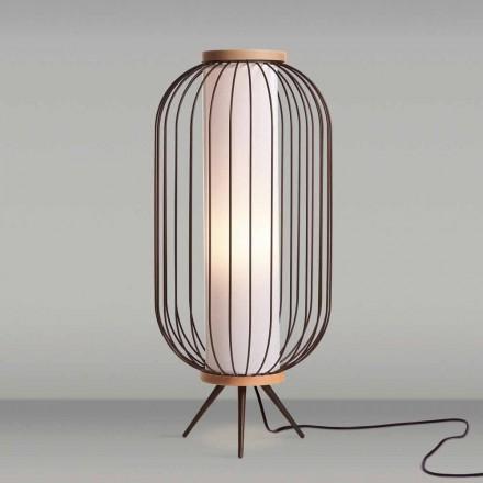 Lampada da terra design moderno in acciaio diametro 37xH80 cmFanny